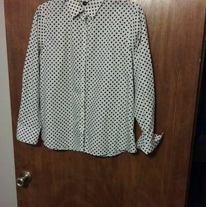 Land's End poke a dot shirt